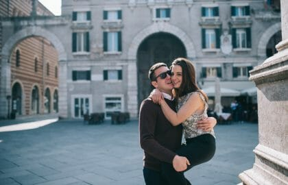 Romantic Treasure Hunt discovering Verona